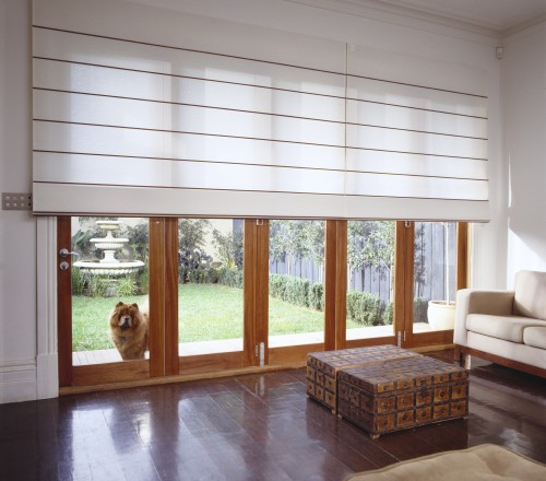 Roman blinds timbershades for Roman shades for wide windows